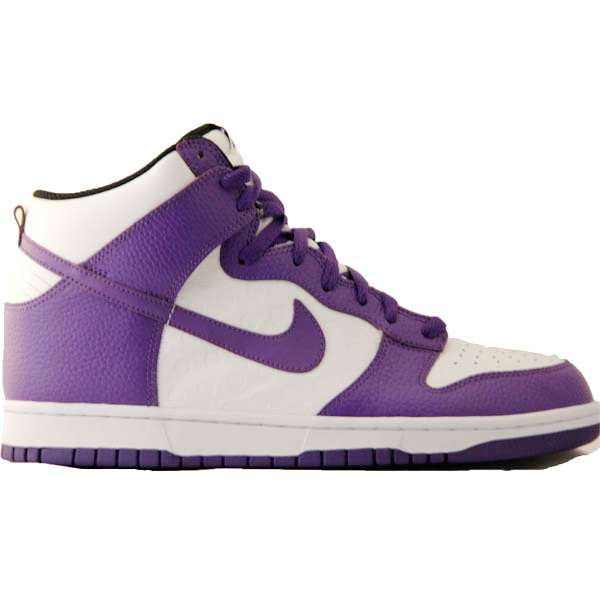 Кеды Nike Dunk High white/purple